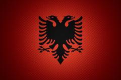 Flag of Albania Stock Illustration
