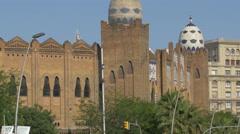 La Monumental arena in Barcelona Stock Footage