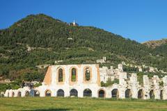 Ancient town of Gubbio (Umbria, Italy) - stock photo