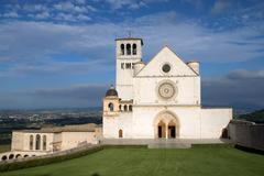 The Papal Basilica of St. Francis of Assisi Stock Photos