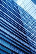 Moden Business Office Building Windows Repeative Pattern - stock photo