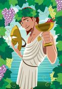 Dionysus - stock illustration