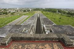 Roof top of the Columbus Lighthouse, Santo Domingo, Dominican Republic. - stock photo