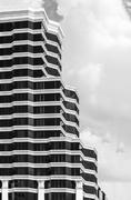 Black and white of building exterior Stock Photos