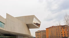 Front of MAXXI. Rome. Italy. Time Lapse Stock Footage