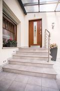 Stock Photo of Entrance to detached house