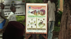 Ebola poster in French Stock Footage