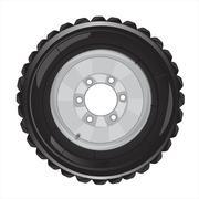 Wheel of the car - stock illustration