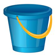 Pail from plastic arts - stock illustration