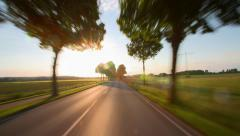 Driving a car - POV - Road at Sunset - Part 4 of 8 Stock Footage