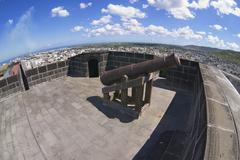 Stock Photo of Old cannon in Fort Adelaide, Port Louis, Mauritius.