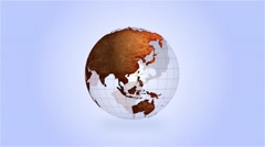 High Definition Loopable Spinning Old Globe Stock Footage