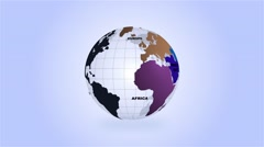High Definition Loopable Spinning Regional Globe Stock Footage