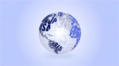 High Definition Loopable Spinning Typographic Globe Stock Footage