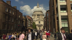LONDON VIEW OF ST PAULS CATHEDRAL 1080p - stock footage