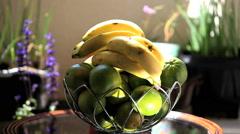 Fresh Fruits - House garden. Home, spring, external area. Stock Footage