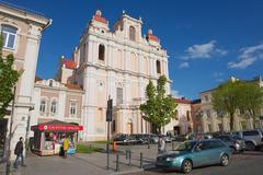 Exterior of the St. Casimir church in Vilnius, Lithuania. - stock photo