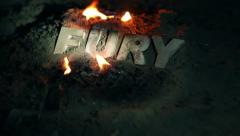 Fury Word at night - stock footage