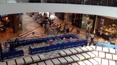 Ayalon Mall - Ayalon Mall - People walking near Bookstall Stock Footage