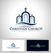 Church Logo - stock illustration