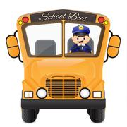 bus driver driving his bus - stock illustration