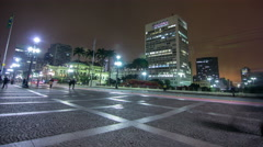 Timelapse of Brazil's largest city , a metropolis that never sleeps , São Paulo. Stock Footage