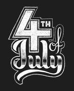 4th of July. Chalk lettering Stock Illustration