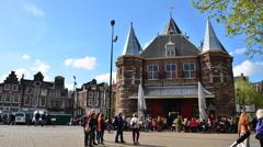 Nieuwmarkt in Amsterdam. Stock Footage