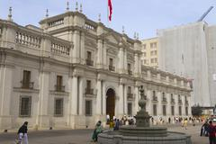Stock Photo of La Moneda presidential palace, Santiago, Chile.