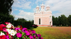 Chesme Church, St. Petersburg, Russia Stock Footage
