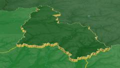 Sumy - Ukraine region extruded. Bumps shaded Stock Footage