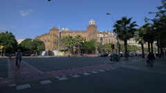Quiet afternoon on Gran Via in Barcelona Stock Footage