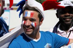 France football fans - stock photo