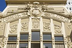Exterior of the Post Office building, San Jose, Costa Rica. - stock photo