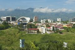 National Stadium and buildings in San Jose, Costa Rica. Kuvituskuvat