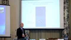 Plenary thesis of Nobel Prize Laureate in chemistry Roger Kornberg Stock Footage
