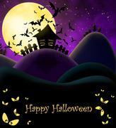 Happy Halloween ilustration Stock Illustration