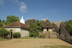 Entrance to the Isurumuniya rock temple in Anuradhapura, Sri Lanka. Stock Photos