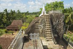 Exterior of the Isurumuniya rock temple in Anuradhapura, Sri Lanka. - stock photo