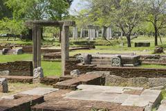 Ruins of the Sacred city in Anuradhapura, Sri Lanka. - stock photo