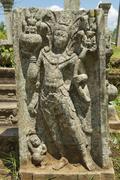 Ancient carving in Anuradhapura, Sri Lanka. Stock Photos