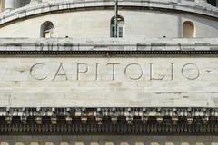 Capitolio building exterior detail in Havana city, Cuba. - stock photo