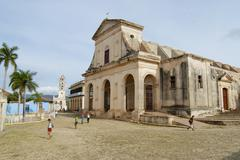 Church of the Holy Trinity exterior in Trinidad, Cuba. - stock photo