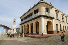 Brunet palace exterior in Trinidad, Cuba. Stock Photos
