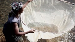 Fisher woman  Africa Stock Footage