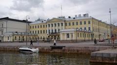 The royal Palace, Helsinki Stock Footage