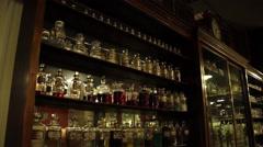 Vintage Dispensary 4 Stock Footage