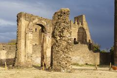 Medieval fortress in Gondar, Ethiopia, UNESCO World Heritage site. Stock Photos