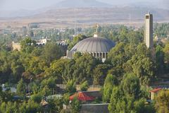 St. Mary of Zion was the traditional place where Ethiopian Emperors came to b - stock photo