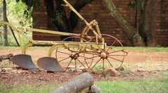 Old farm devices 2 Stock Footage
